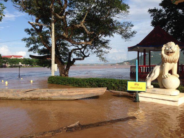 パクセーのメコン川の水位に注意(2018/07/31)
